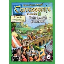 Carcassonne: Poduri, cetăți și bazaruri (extensia 8)