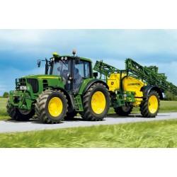 Puzzle Schmidt: John Deere - Tractor 6630 cu pulverizator, 40 piese