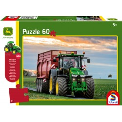 Puzzle Schmidt: John Deere - Tractor 8370R, 60 piese