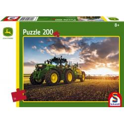 Puzzle Schmidt: John Deere - Tractor 6150 R cu pulverizator, 200 piese