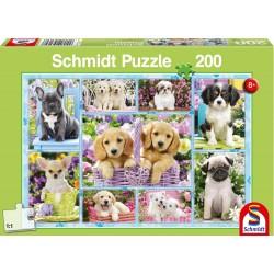 Puzzle Schmidt: Cățeluși, 200 piese