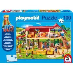 Puzzle Schmidt: playmobil - La fermă, 100 piese