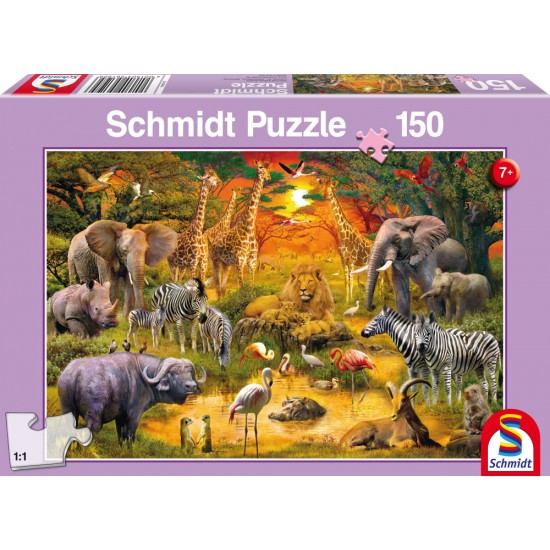 Puzzle Schmidt: Animale din Africa, 150 piese