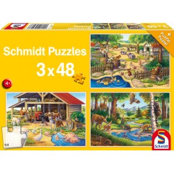 Puzzle Schmidt: Animalele mele favorite, 48 piese