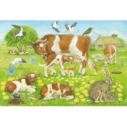 Puzzle Schmidt: Familia animalelor, 48 piese