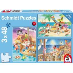 Puzzle Schmidt: Banda de pirați, 48 piese