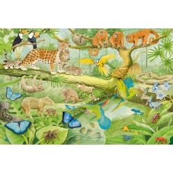Puzzle Schmidt: Animalele din junglă, 100 piese