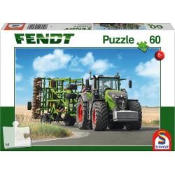 Puzzle Schmidt: Fendt - Fendt 1050 Vario cu Cultivator Amazone Cenius, 60 piese