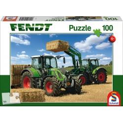Puzzle Schmidt: Fendt - Fendt 724 Vario, Fendt 716 Vario Stivuitor Frontal Fendt Cargo 4x85, 100 piese