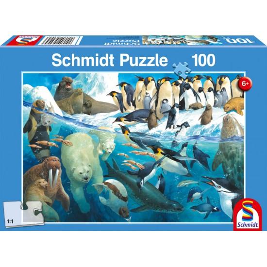 Puzzle Schmidt: Animale de la poli, 100 piese