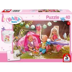 Puzzle Schmidt: Baby Born - Hai să mergem la camping!, 40 piese