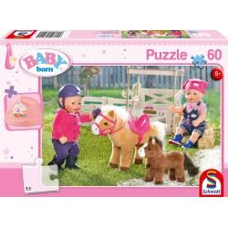 Puzzle Schmidt: Baby Born - La ferma de ponei, 60 piese
