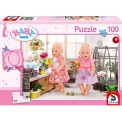 Puzzle Schmidt: Baby Born - Florărie, 100 piese
