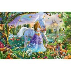 Puzzle Schmidt: Prințesa, unicornul și castelul, 150 piese