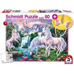 Puzzle Schmidt: Unicorni de vis, 60 piese