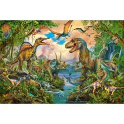 Puzzle Schmidt: Dinosauri sălbatice, 200 piese