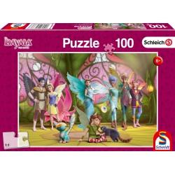 Puzzle Schmidt: Bayala - Regina Eleya și prietenii ei, 100 piese