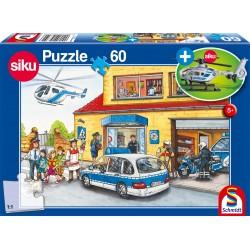 Puzzle Schmidt: Elicopter de poliție, 60 piese