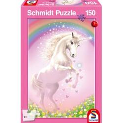 Puzzle Schmidt: Unicorn roz, 150 piese