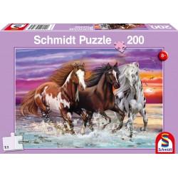 Puzzle Schmidt: Cai sălbatici, 200 piese