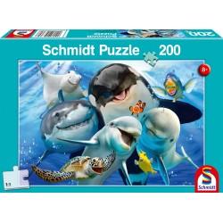 Puzzle Schmidt: Portret de familie submarin, 200 piese