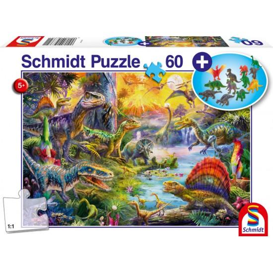 Puzzle Schmidt: Dinozauri, 60 piese