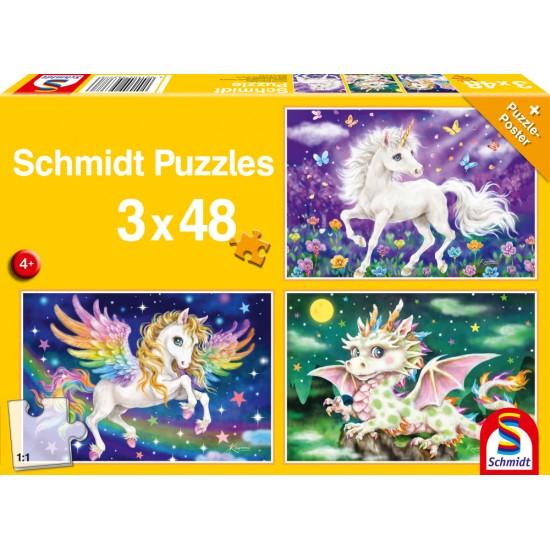 Puzzle Schmidt: Animale mitice, 48 piese