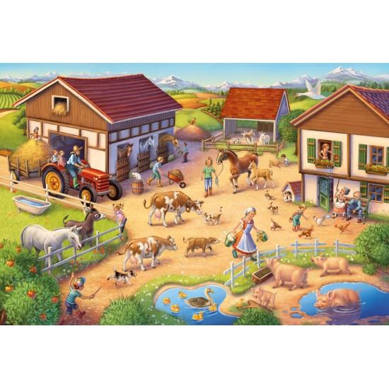 Puzzle Schmidt: Fermă, 40 piese