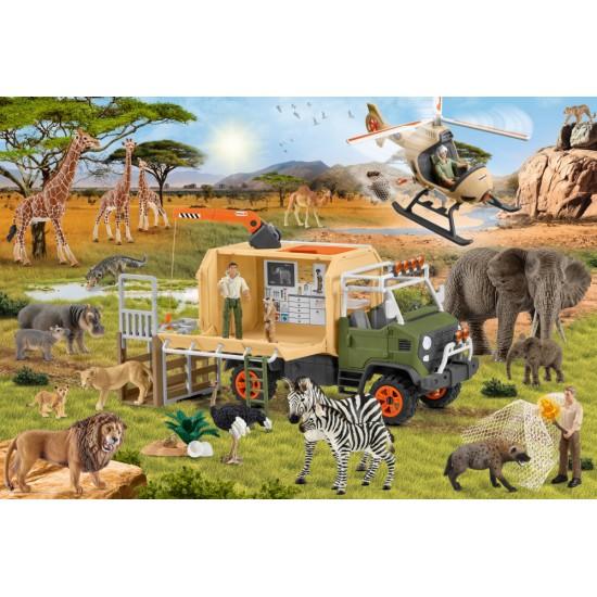 Puzzle Schmidt: Schleich - Salvare veterinară, 60 piese