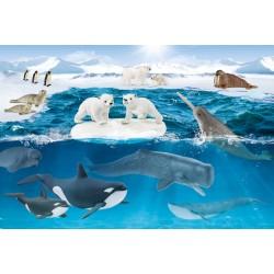 Puzzle Schmidt: Schleich - Wild Life: Viața arctică, 60 piese