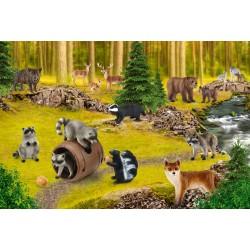 Puzzle Schmidt: Schleich - Wild Life: Viața raconilor, 150 piese