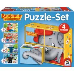 Puzzle Schmidt: Benjamin Blümchen - Benjamin Blümchen și copii, 26 piese