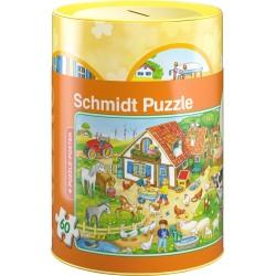 Puzzle Schmidt: Fermă, 100 piese