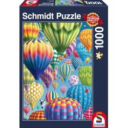 Puzzle Schmidt: Baloane colorate cu aer cald, 1000 piese