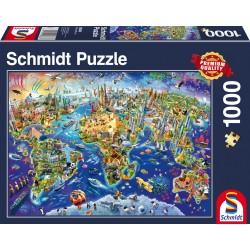 Puzzle Schmidt: Descoperă lumea, 1000 piese
