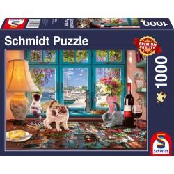 Puzzle Schmidt: Distracție pe masa de puzzle, 1000 piese