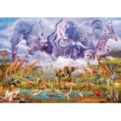 Puzzle Schmidt: Animale la adăpat, 1000 piese