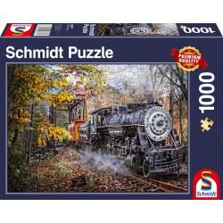 Puzzle Schmidt: Fascinația trenurilor, 1000 piese