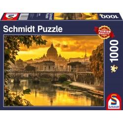 Puzzle Schmidt: Lumina de aur peste Roma, 1000 piese