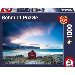 Puzzle Schmidt: Căsuță pe coasta Atlanticului, 1000 piese