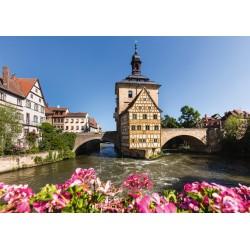 Puzzle Schmidt: Bamberg, Regnitz și Primăria Veche, 1000 piese