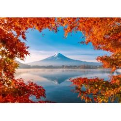 Puzzle Schmidt: Magia toamnei pe Muntele Fuji, 1000 piese