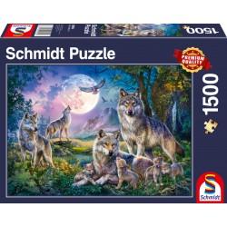Puzzle Schmidt: Familia lupului, 1500 piese