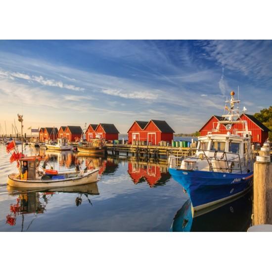 Puzzle Schmidt: Portul pescarilor –  Weisse Wiek, 500 piese