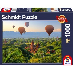 Puzzle Schmidt: Baloane cu aer cald, Mandalay, Myanmar, 1000 piese