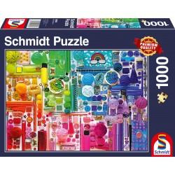 Puzzle Schmidt: Culorile curcubeului, 1000 piese