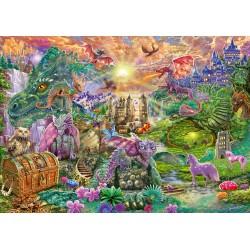 Puzzle Schmidt: Tărâmul dragonului fermecat, 1000 piese