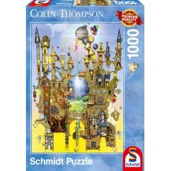 Puzzle Schmidt: Colin Thompson - Castel suspendat, 1000 piese