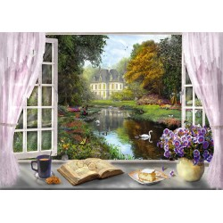 Puzzle Schmidt: Dominic Davison - Vedere spre grădinile castelului, 1000 piese
