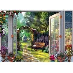 Puzzle Schmidt: Dominic Davison - Vedere spre grădina fermecătoare, 1000 piese